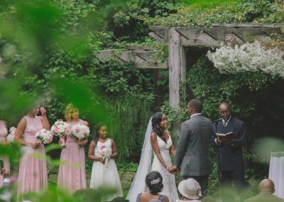 Outdoor garden ceremony by Together We Click Columbus Ohio Photo & Video